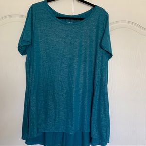 Lane Bryant Teal Blouse Size 14/16 Worn Once